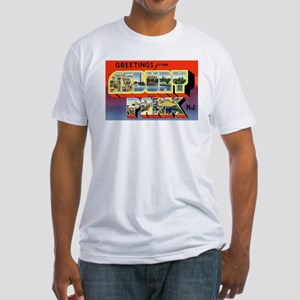 Asbury Park New Jersey (Front) Fitted T-Shirt