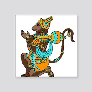 "Kneeling Hanuman Square Sticker 3"" x 3"""
