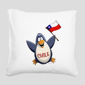 Chile Penguin Square Canvas Pillow
