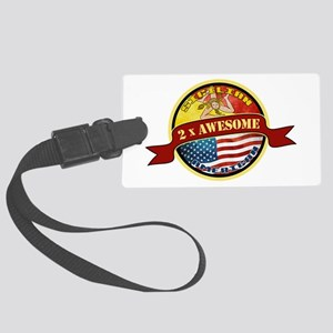 Sicilian American 2 x Awesome Large Luggage Tag