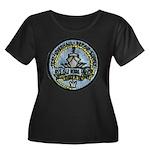 USS ISLE Women's Plus Size Scoop Neck Dark T-Shirt