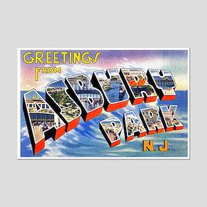 Asbury Park Greetings Mini Poster Print