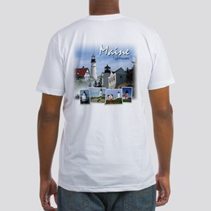 Maine Lighthouses Fitted T-Shirt