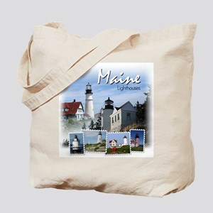 Maine Lighthouses Tote Bag