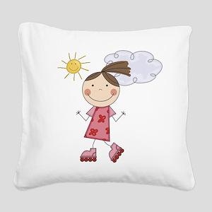 scrapgirlskates Square Canvas Pillow
