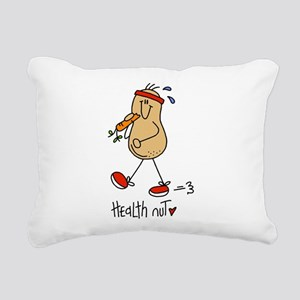 Health Nut Rectangular Canvas Pillow