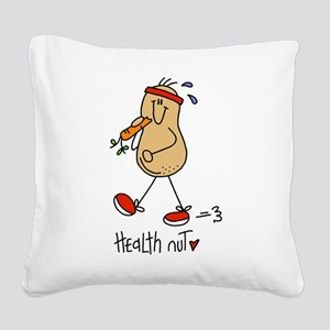 Health Nut Square Canvas Pillow