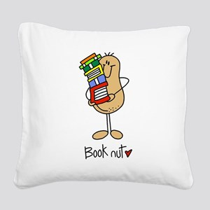Book Nut Square Canvas Pillow
