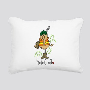 Hunting Nut Rectangular Canvas Pillow