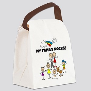 FAMILY STICK FIGURES Canvas Lunch Bag