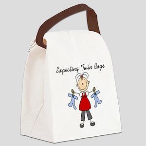expectingtwinboys Canvas Lunch Bag