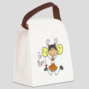 colorsteamorange Canvas Lunch Bag