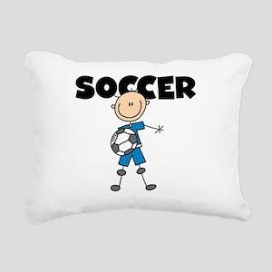 SOCCERPLAYERBOY Rectangular Canvas Pillow
