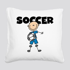 SOCCERPLAYERBOY Square Canvas Pillow