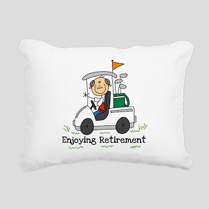 ENJOYRETIRMEENGOLF Rectangular Canvas Pillow