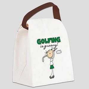 golfingisgroovy Canvas Lunch Bag