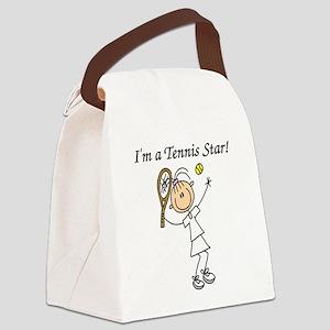 tennisstargirl Canvas Lunch Bag