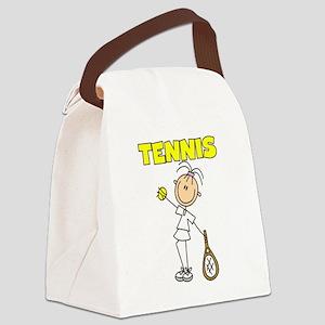 TENNISGIRL Canvas Lunch Bag