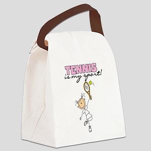 tennismysportgirl Canvas Lunch Bag