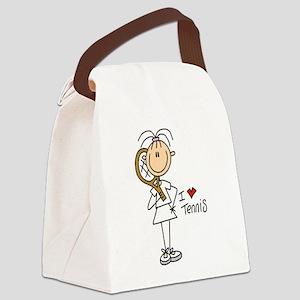 tennisgirlone Canvas Lunch Bag