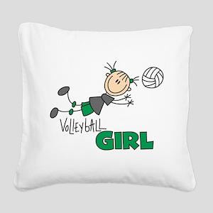 VOLLEYBALLGIRLTEE Square Canvas Pillow