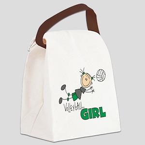 VOLLEYBALLGIRLTEE Canvas Lunch Bag