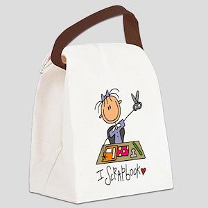 I Scrapbook Canvas Lunch Bag