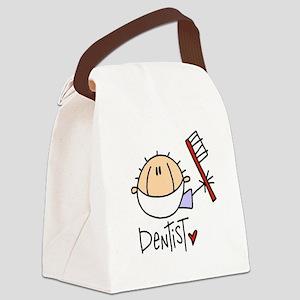 headdentistmale Canvas Lunch Bag