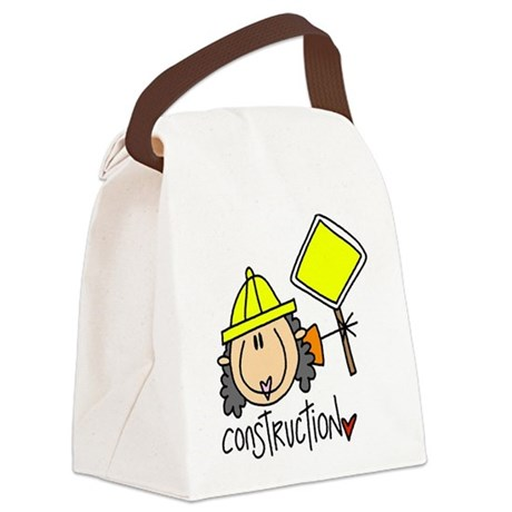 headconstruction.png Canvas Lunch Bag