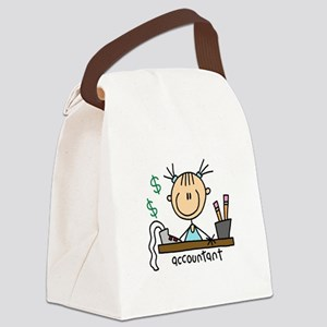 ACCOUNTANTSTICKFIG Canvas Lunch Bag