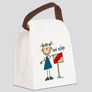realestatestickfig Canvas Lunch Bag