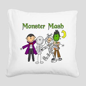monstermashhallow Square Canvas Pillow