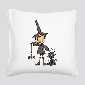 WITCHSTICKWITHCAT Square Canvas Pillow