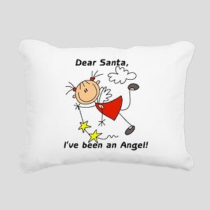 xmasstickangel Rectangular Canvas Pillow