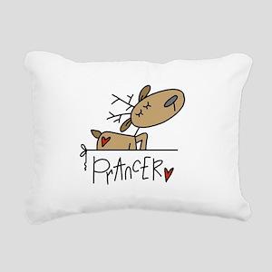 REINDEERPRANCER Rectangular Canvas Pillow