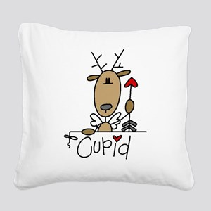 REINDEERCUPID Square Canvas Pillow