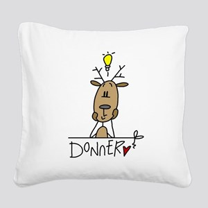 cowmoo Square Canvas Pillow