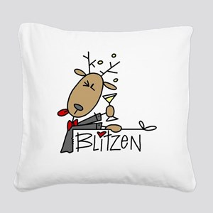 reindeerblitzen Square Canvas Pillow