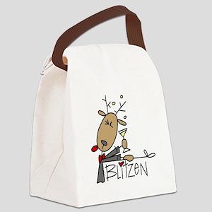 reindeerblitzen Canvas Lunch Bag