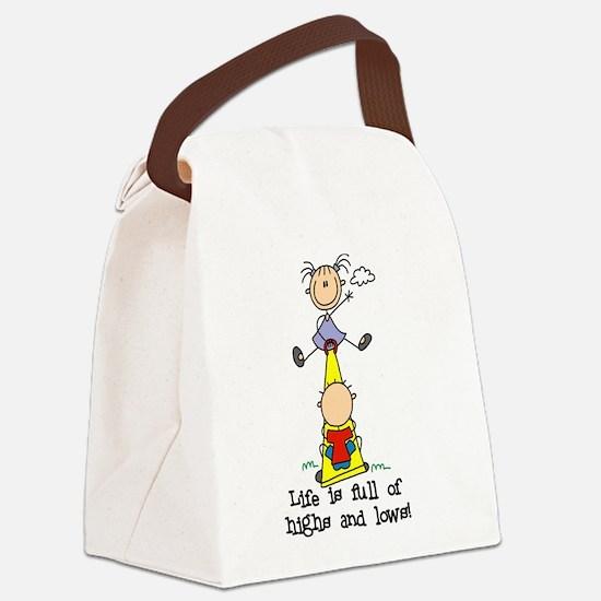 LIFEHIGHSANDLOWS.png Canvas Lunch Bag