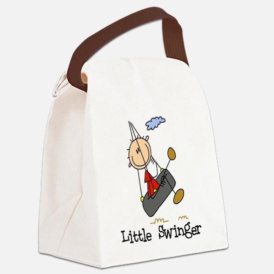 LITTLESWINGERKID.png Canvas Lunch Bag