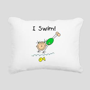 ISWIMGIRLTEE Rectangular Canvas Pillow
