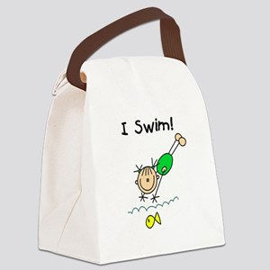 ISWIMGIRLTEE Canvas Lunch Bag