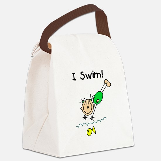 ISWIMGIRLTEE.png Canvas Lunch Bag