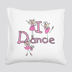 IDANCEGIRLBALLERINA Square Canvas Pillow