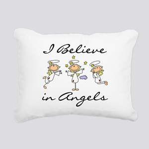 believeinangelstee Rectangular Canvas Pillow