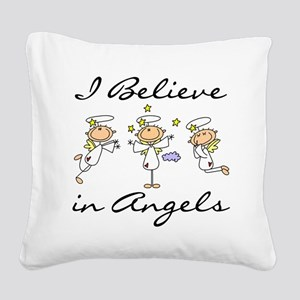 believeinangelstee Square Canvas Pillow