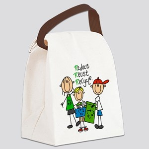 stickreducereuserecycle Canvas Lunch Bag
