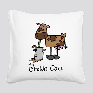 browncowtee Square Canvas Pillow