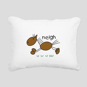horseneigh Rectangular Canvas Pillow